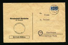 A4938) Bund Dienstbrief Von Kaisheim 8.10.49 Mit EF Notopfer - BRD