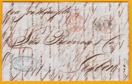 1861 Lettre Avec Correspondance De Liverpool Vers Lisbonne, Portugal Via LONDRES Et Southampton - Postmark Collection