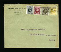 A4939) Belgien Brief Von Bruxelles 1929 Schweiz 4-Farben - Belgien
