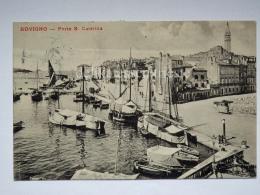 ROVIGNO ISTRIA Vecchia Cartolina Porto S. Caterina Barche Pesca 11811 - Croazia