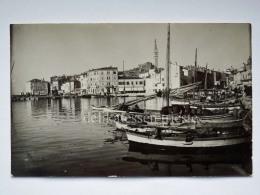 ROVIGNO ISTRIA Vecchia Cartolina Barca Vela Pesca - Croazia