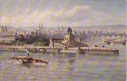 Germany Koblenz Kaiser-Wilhelm-Denkmal Am Deutsches Eck