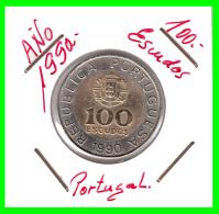 PORTUGAL  MONEDA DE  100  ESCUDOS      AÑO 1990 - Portugal
