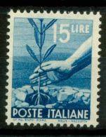 Italia Repubblica 1945 Sass. 560 Nuovo ** 100% Democratica - 6. 1946-.. Republic