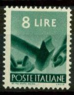 Italia Repubblica 1945 Sass. 557 Nuovo ** 100% Democratica - 6. 1946-.. Republic