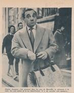 Article Issu D'un Magazine Ou Revue De 1960 - CHARLES AZNAVOUR à MArseille Avec Le Stylomine - Zonder Classificatie