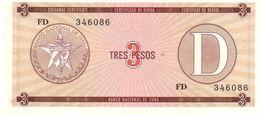 Cuba P FX33  3 Peso 1985 UNC - Cuba