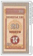 Mongolia - Banconota Non Circolata Da 20 Mongo - 1993 - Mongolia