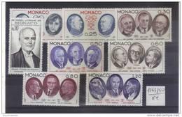 Monaco Serie De 1976 N°1043 A 1050 Complète En Neuf ** - Nuevos