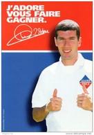 Cpm J Adore  Vous  Faire  Gagner. Avec  Zidane  (leader Price ) - Calcio