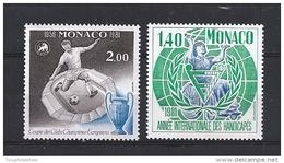 Monaco Timbres De 1981 Neufs** N°1275 Et 1276 - Monaco