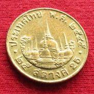 Thailand 25 Satang 1/4 Baht 2002 / 2545 Y# 187  Lt 446 Tailandia Thailande - Thaïlande