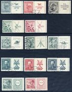 CZECHOSLOVAKIA 1937-38 Commemorative Issues With Labels At Right, Used. - Used Stamps