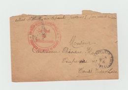 LSC 1916 - Cachet REGIMENT D'INFANTERIE TERRITORIALE+ Cachet TOURS (Indre Et Loire) - Marcophilie (Lettres)