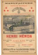 Manufacture De Dentelles Mécaniques Henri Hénon à CALAIS 62 Déménagements Chape Delpech Laroque MARSEILLE - Advertising