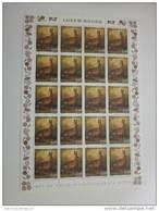Luxembourg Feuille De 20 Timbres à 0,59 + 0,11 Euro Liévre, Hase, Hare Timbre De Bienfaisance 2001 - Full Sheets