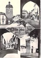 ** Lot De 2 Cartes ** 33 - CADILLAC SUR GARONNE : Multivues Et Porte De La Mer - CPSM Dentelée GF - Gironde - Cadillac