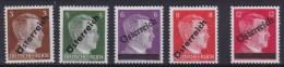 Osterreich   .    Yvert   .    534/538       .      **      .          Postfrisch     .   /    .   MNH - 1918-1945 1ste Republiek
