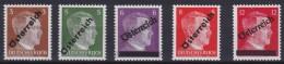 Osterreich   .    Yvert   .    534/538       .      **      .          Postfrisch     .   /    .   MNH - 1918-1945 1. Republik