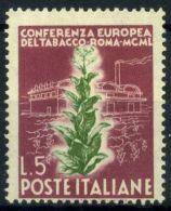 Italia Repubblica 1949 Sass. 629 Nuovo ** 40% Tabacco - 6. 1946-.. Republic