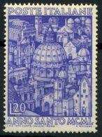 Italia Repubblica 1950 Sass. 620 Nuovo ** 100% Anno Santo - 6. 1946-.. Republic