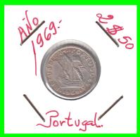 PORTUGAL/MONEDA RÉPUBLICA > 2.5 ESCUDOS AÑO 1969 - Portugal