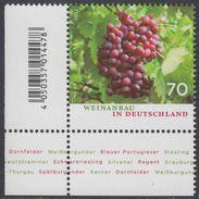 !a! GERMANY 2017 Mi. 3334 MNH SINGLE From Lower Left Corner - Winegrowing In Germany - BRD