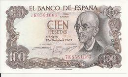 ESPAGNE 100 PESETAS 1970 UNC P 152 - [ 3] 1936-1975 : Regency Of Franco