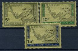 Yemen 1968 Mi. 719-721 Nuovo ** 100% Konrad Adenauer - Yemen