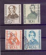 Bund 1955 - Wohlfahrt - MiNr. 222/225 Rund Gestempelt - Michel 45,00 € (530) - Used Stamps