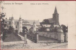 Environs De GENAPPE Château Et Eglise D'HOUTAING (In Zeer Goede Staat) - Genappe