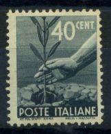 Italia Repubblica 1945 Sass. 546 Nuovo ** 100% Democratica - 6. 1946-.. Republic