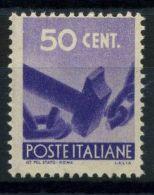Italia Repubblica 1945 Sass. 547 Nuovo ** 100% Democratica - 6. 1946-.. Republic