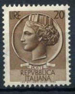 Italia Repubblica 1953 Sass. 714 Nuovo ** 40% Italia Turrita 20 L. - 6. 1946-.. Republic
