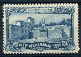 San Marino 1927 Sass. 135 Nuovo ** 100% 1,25 Ara Dei Volontari - San Marino