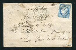 Rare Lettre Du Grand Bornand Pour Le Fort De La Duchère à Lyon ( 1874 ) - Cachet GC 4897 - Marcophilie (Lettres)
