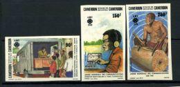 Camerun 1983 Mi. 1016-1018 Nuovo ** 100% Non Dentellati '' Anno Internazionale Delle Comunicazioni '' - Camerun (1960-...)