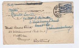 1938 SOUTH AFRICA COVER REDIRECTED  To GB From Cape Town To Johannesburg To Glasgow, Stamps - South Africa (...-1961)