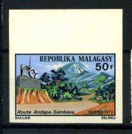 Madagascar 1972 Mi. 657 Nuovo ** 100% Non Dentellati Percorso Andapa-Sambava - Madagascar (1960-...)