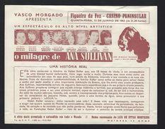 Programa Teatro VASCO MORGADO No CASINO PENINSULAR Figueira Da Foz, C/Eunice Munoz,Fernanda Borsatti. MONUMENTAL Solnado - Books, Magazines, Comics