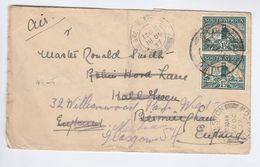 1937 SOUTH AFRICA COVER REDIRECTED To GB Cape Town To HALL GREEN BIRMINGHAM  To NEILSTON GLASGOW Cds Via GREENOCK Stamps - South Africa (...-1961)