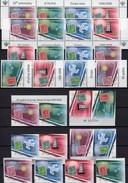 50 Jahre CEPT CRNA GORA 108/1 I,TAB,2x 4-ZD,108/1 II Aus Bl.2+ZD-Paare Imperf.** 174€ Ss Philatelic Se-tenants 2006 - Briefmarken Auf Briefmarken