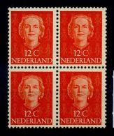 Olanda 1949 Mi. 528 Nuovo ** 100% Regina Giuliana. Quartina. - Period 1949-1980 (Juliana)