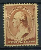 USA 1882 Mi. 49 Senza Gomma 100% Washington 2 C. Presidenti - 1847-99 General Issues