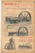 Machines à Vapeur Compound Jean & Peyrusson LILLE Au Dos Dujardin Moteurs à Vapeur à Obturateurs Corliss - Publicités