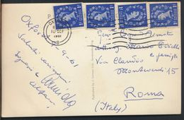 °°° 8919 - UK - OXFORD - WADHAM COLLEGE AND PARKS ROAD - 1961 With Stamps °°° - Oxford
