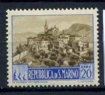 San Marino 1949 Sass. 351 A Nuovo ** 100% Paesaggi 20 L. - San Marino