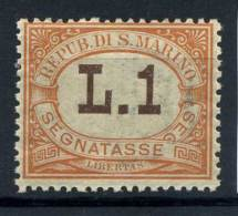 San Marino 1925 Sass. 24 Nuovo ** 100% Segnatasse Valore In Bruno. - Segnatasse
