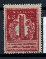 Italia Repubblica 1949 Sass. 611 Nuovo ** 100% Pila Elettrica - 6. 1946-.. Republic