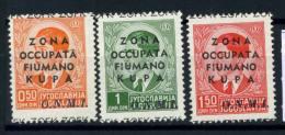 Zona Fiumano Kupa 1941 Sass. 32-34 Nuovo ** 100% Maternità Infanzia ONMI - 9. WW II Occupation (Italian)